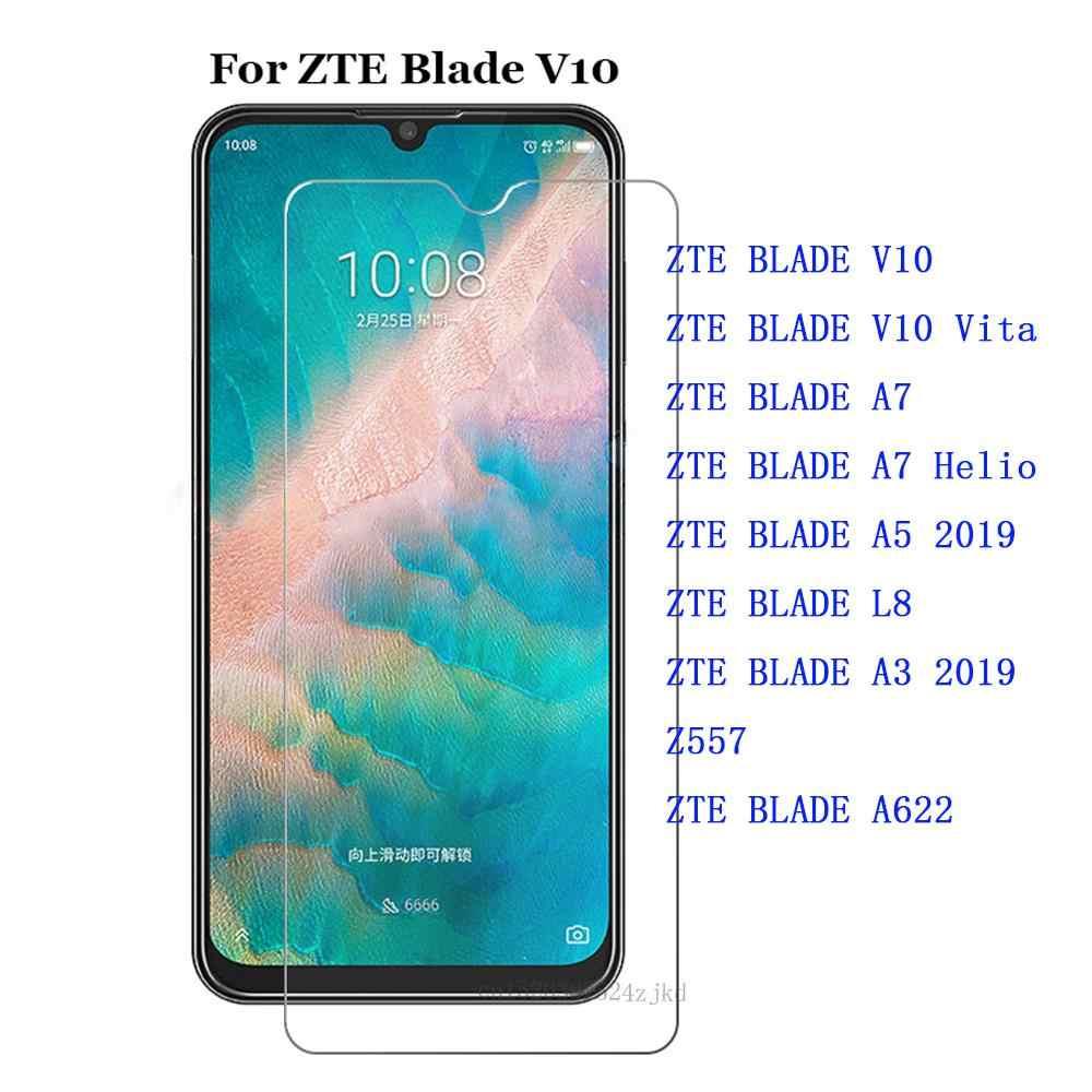 מזג זכוכית עבור ZTE להב V10 VITA A7 L8 A3 2019 A5 Helio P60 Z557 A622 מסך מגן 9H דק במיוחד מגן קדמי סרט