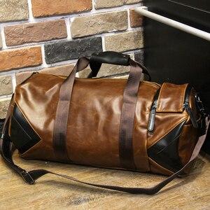Image 4 - Xiao.P Men Handbag Large Capacity Travel Bag Designer Shoulder Messenger Luggage Bags Good Quality Casual Crossbody Travel Bags