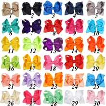 цена на Free Shipping 50 Pcs/lot 4 Solid Hair Bow With Clip For Baby,Boutique Ribbon Hair Bow For Kids,Classic Baby Hair Bow 30 Colors