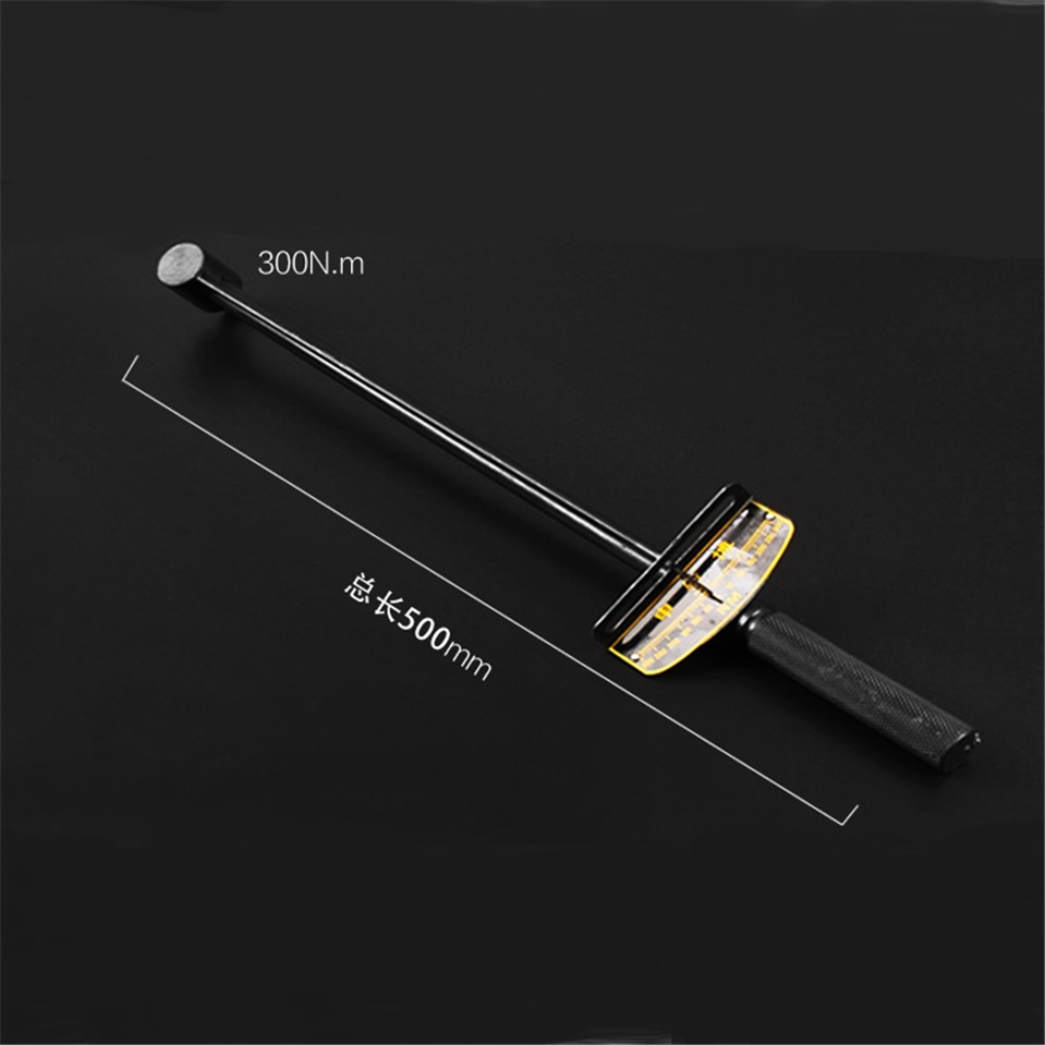 300N.m/500N.m Pointer Socket Torque Wrench Car Repair Hand Tool Dial Torque Spanner Tension Wrench Spanner Power Drill Adaptor