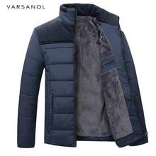 Varsanol New Winter Men's Warm Jacket Men Clothing Stand Collar Coat Long Sleeve Zipper Slim Jacekts Fashion Outwear 2017 Hot