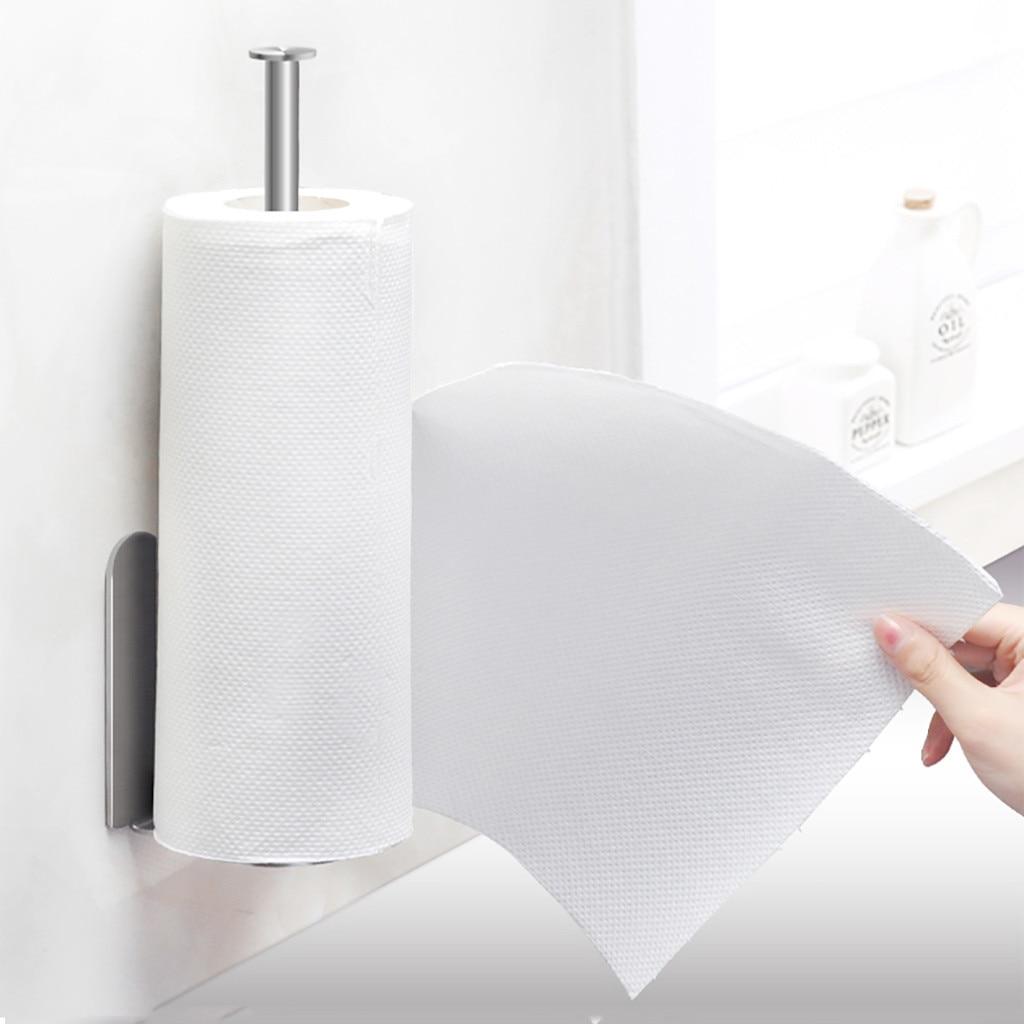 Vertical Paper Towel Holder Kitchen Paper Towel Rack Wall
