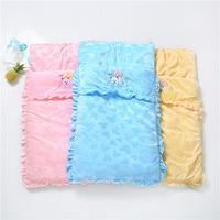 Raise Young Winter Baby Sleeping Bag 100% Cotton Envelope For Newborns Cartoon Embroidery Baby Stroller Sleepsacks 85*50CM