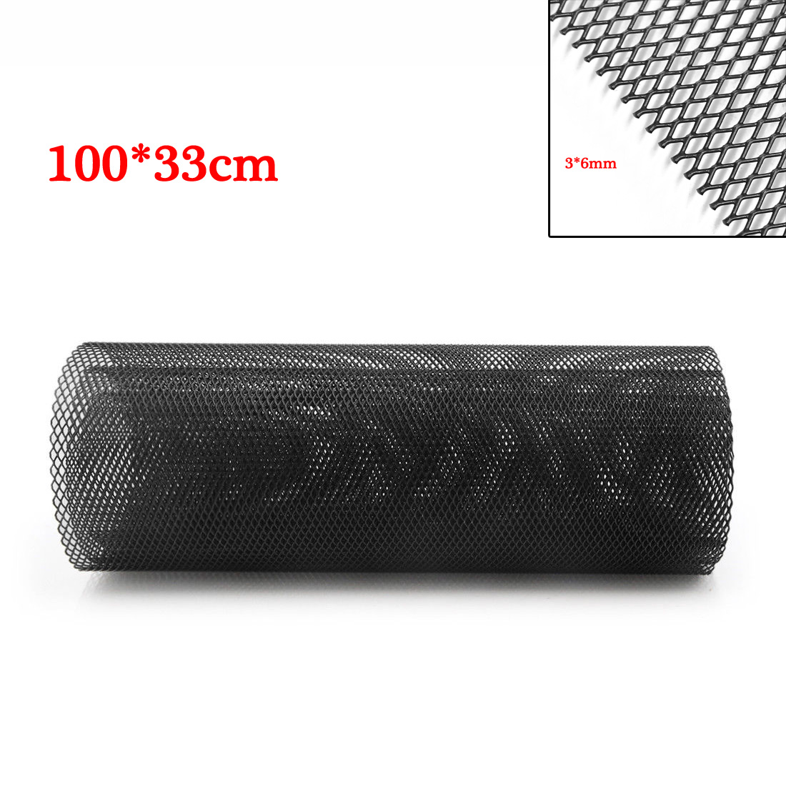 Black Car Grille Mesh Sheet Bumper Aluminum Alloy Interior Replacement 1 Roll in Front Radiator Grills from Automobiles Motorcycles