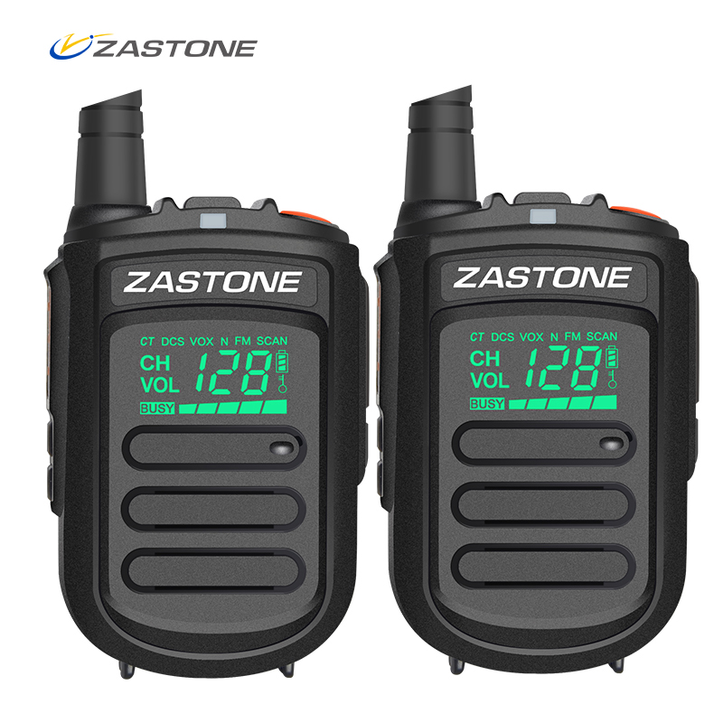 2 pcs D'origine Zastone Mini9 portable mini talkie walkie UHF 400-480 MHz Jambon Amateur RadioTwo Way Radio 128 canaux talkie walkie