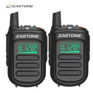 Image 1 - 2個zastone Mini9ポータブルミニトランシーバーハムアマチュア無線双方向ラジオ128チャンネルトランシーバーfmトランシーバラジオ