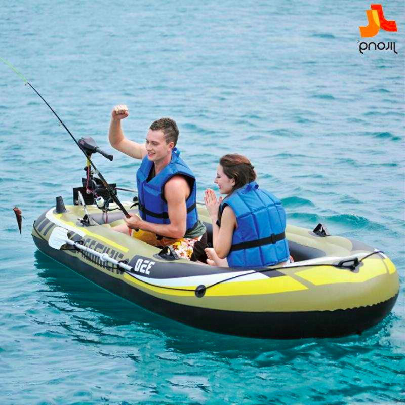 Rubber Boat Thick Wear-resistant Inflatable Boat 2/3/4 Person Kayak Canoeing Fishing Boat Hovercraft Assault Boat Drifting Boat