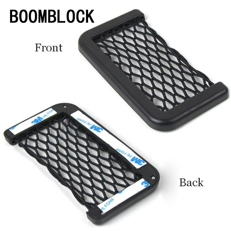 BOOMBLOCK 1pcs Car Phone Holder Stickers For Audi A4 A3 A6 C6 B7 B8 B5 Q5 Seat Leon Ibiza Skoda Fabia Yeti Superb Accessories