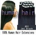 24 polegada 60 cm de fita remy extensões de cabelo humano cor rosa 70 grama incluindo 20 peças