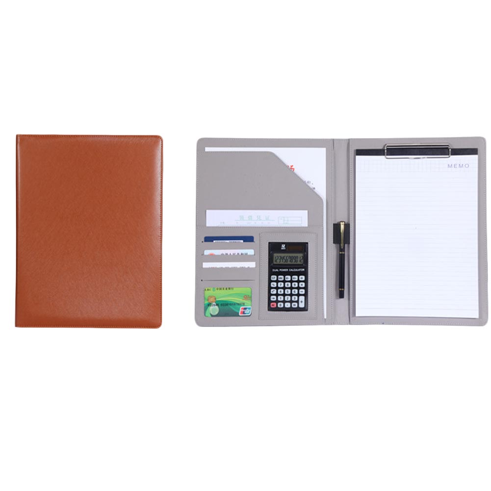 1 Pcs A4 Multi-function Business Office Dedicated Folder Sales Manager Clip/signing Contract Folders new hot a4 pu folder with calculator multifunction folders sales manager folder contract signing folder free shipping