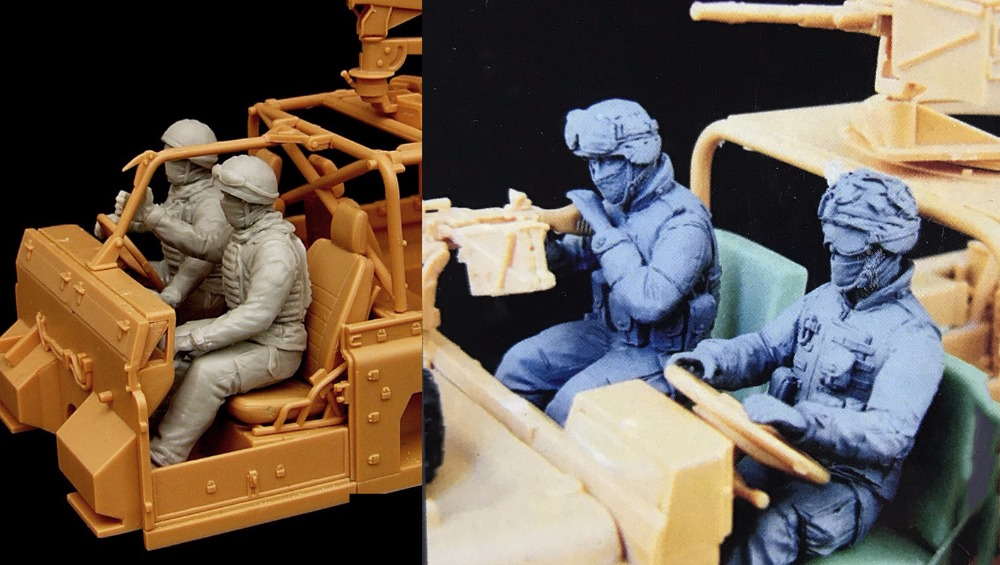 Assembly  Unpainted  Scale 1/35 British And  US Soldiers  Figure Historical  Resin Model Miniature Kit