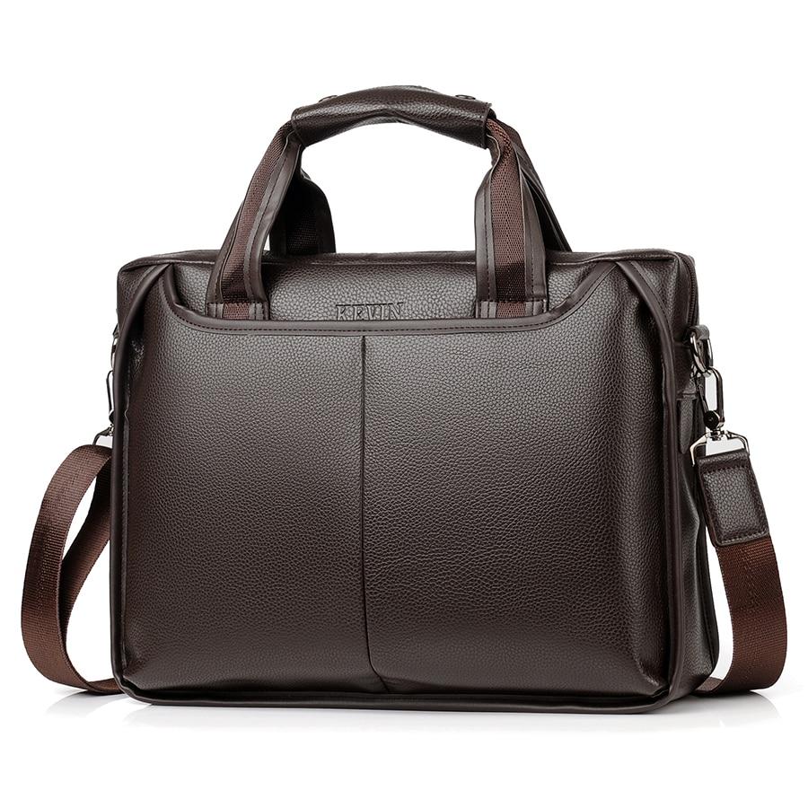 купить JackKevin 2018 New Fashion Pu Leather Men Bag Famous Brand Shoulder Bag Messenger Bags Causal Handbag Laptop Briefcase Male по цене 1789.69 рублей