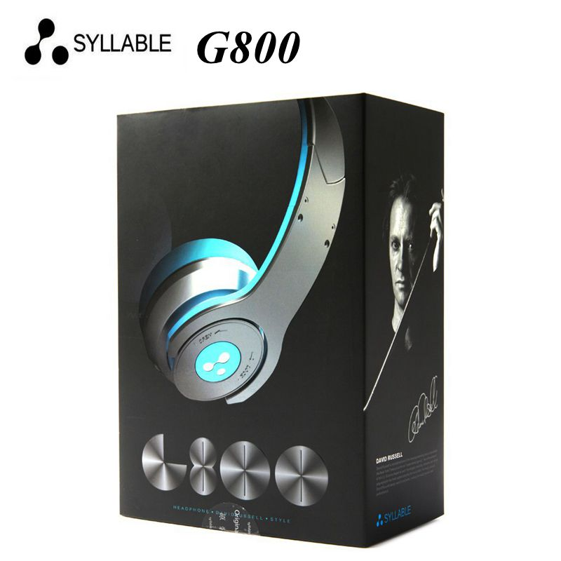 100% original Syllable G800 Wireless Bluetooth 4.0 Noise Cancellation HIFI Stereo Headphone Earphone Headset with Mic to iphone7