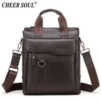15cd64bbb3f81 ... Erkekler Iş Evrak Çantası Belgeleri laptop çantası Erkek çapraz postacı  Ofis Çanta. 2016 New Hot Genuine Leather Men Bag Cowhide Shoulder Fashion  Men ...