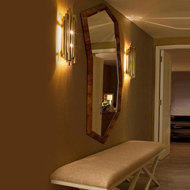 Post Modern Dipimpin Pipa Lampu Art Deco Dinding Lampu Modern Ruang