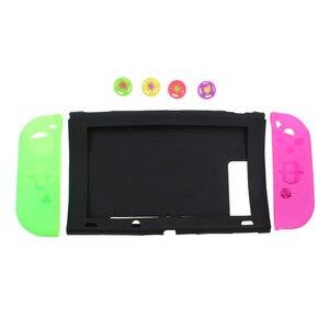 Image 4 - TingDong dla konsoli Nintendo przełącznik przypadku NS miękkie silikonowe pokrywa ochronna skóry dla Nintendo przełącznik konsoli i Joy con