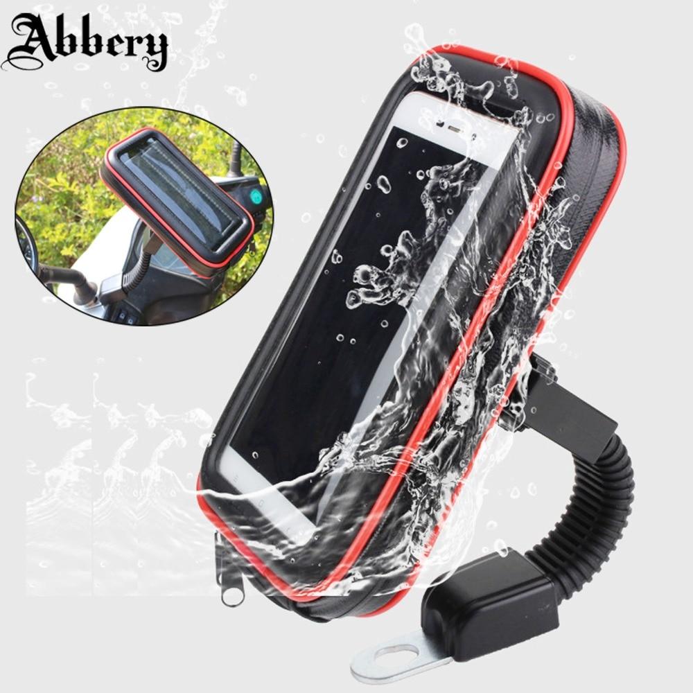 Abbery Waterproof Bike Motorcycle Phone Holder Handlebar