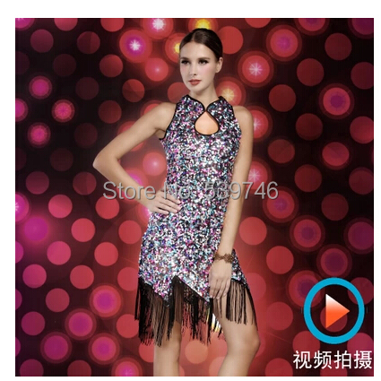 dabf3039c1b0 2015 new fashion Sequin ballroom dance dress ,ballroom tango dresses ,plus  size vestidos para bailar tango-in Ballroom from Novelty & Special Use on  ...