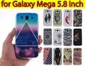 Gt-i9152 gt-i9150 Mega 5.8 casos asteca TRIBLE impressão TPU proteção capa Case sFor Samsung Galaxy Mega 5.8 de silício Funda