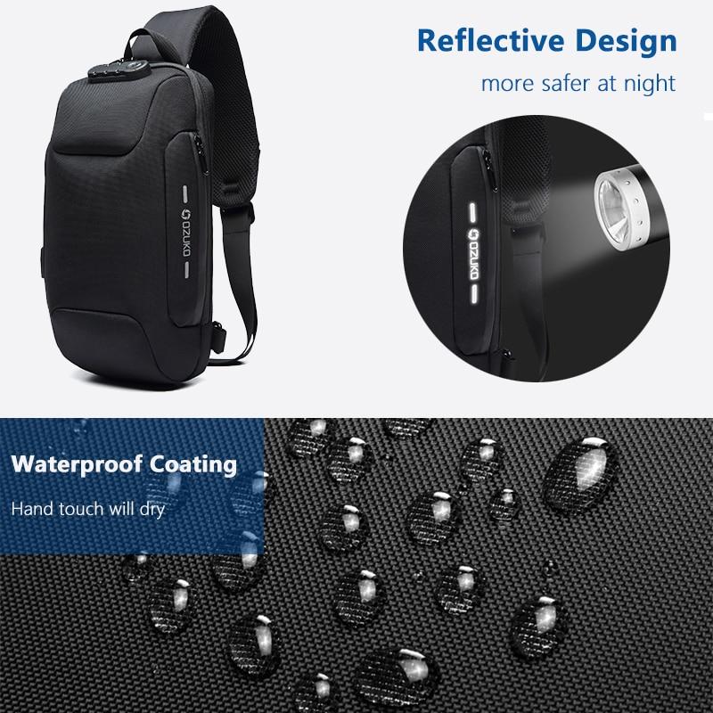 Multifunction Crossbody Bag for Men Anti-theft Shoulder Messenger Bags Waterproof 1
