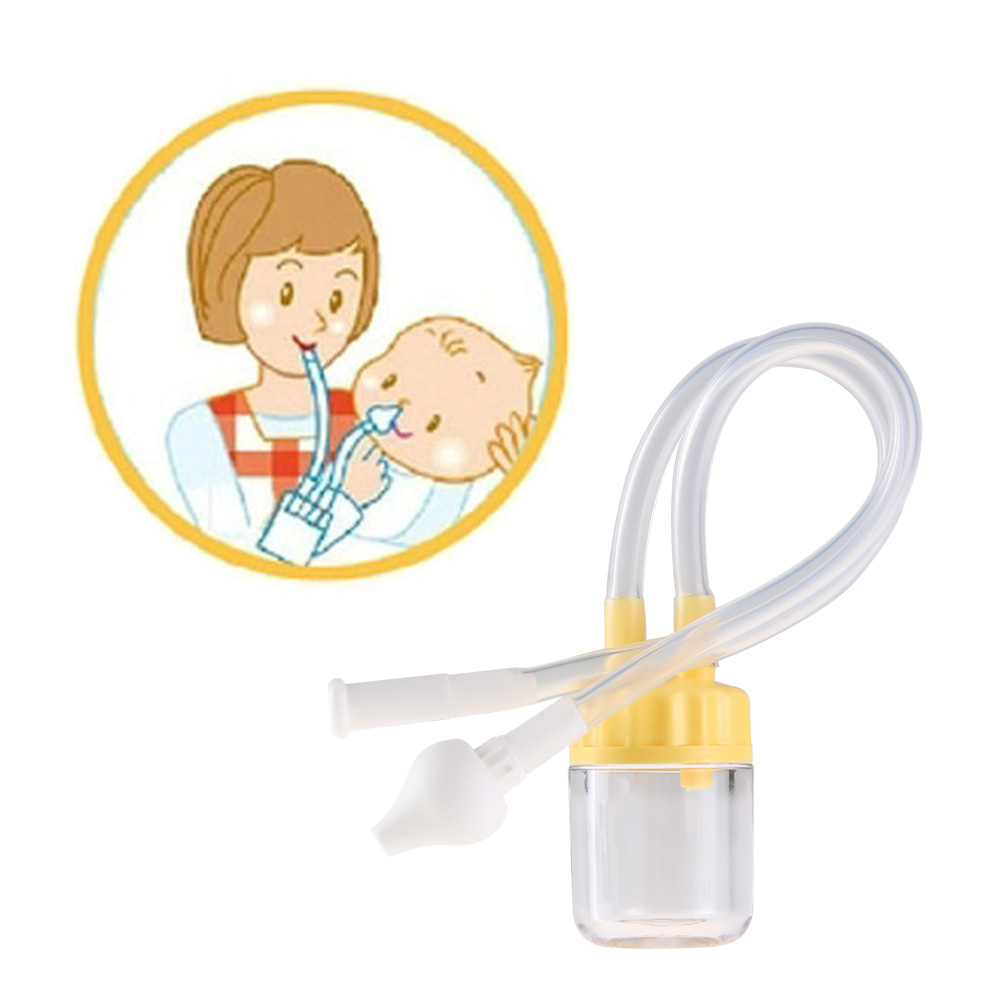 Newborn font b Baby b font Safety Nose Cleaner Vacuum Suction Nasal Aspirator Nasal Snot Nose