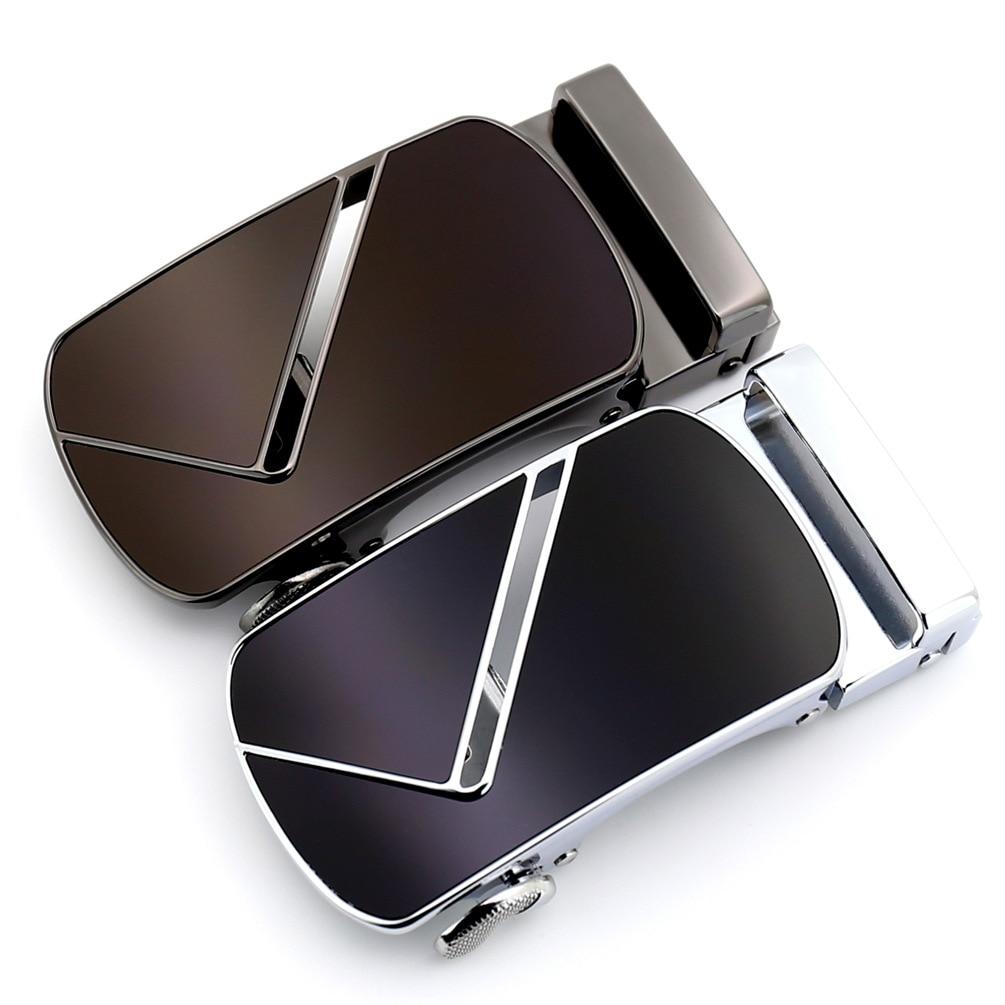 3.5cm Width Mens Belt Buckle Head Men Belt Leather Luxury Brand Automatic Belt Buckle Black Brown CE55-02456S