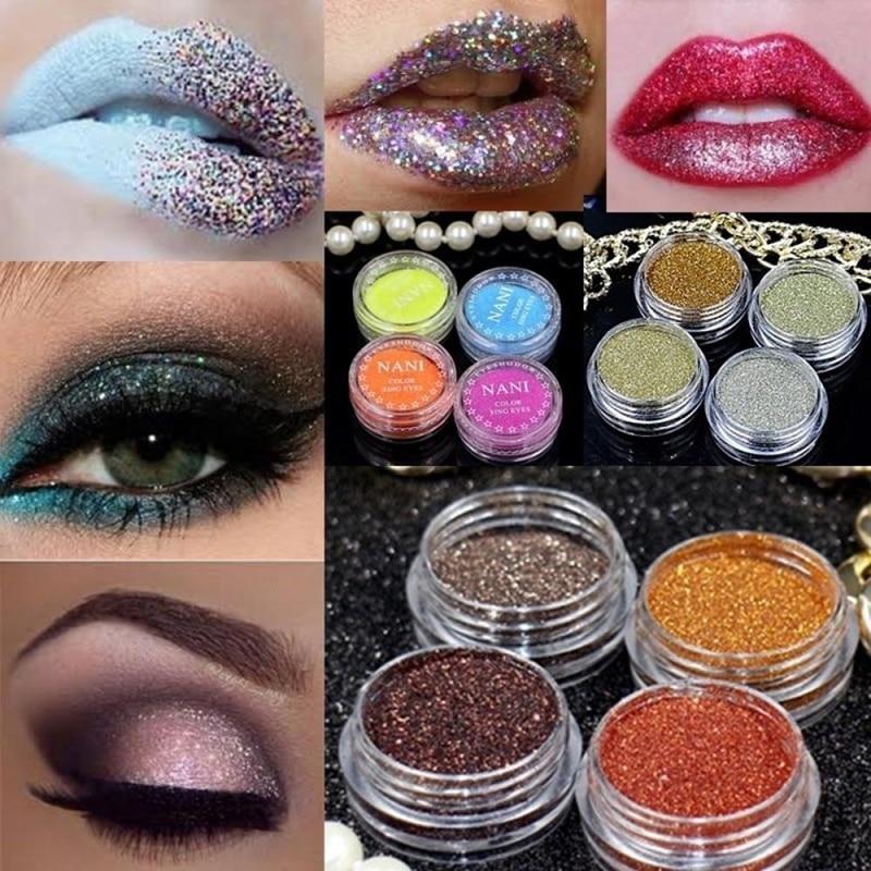 Multi Color Glitter Makeup for Eyes
