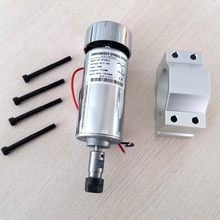 air cooled 400W DC Spindle Motor 0.4KW 12-48V DC ER11 collect + 52mm Mount bracket fixture for PCB CNC Mahine(China)