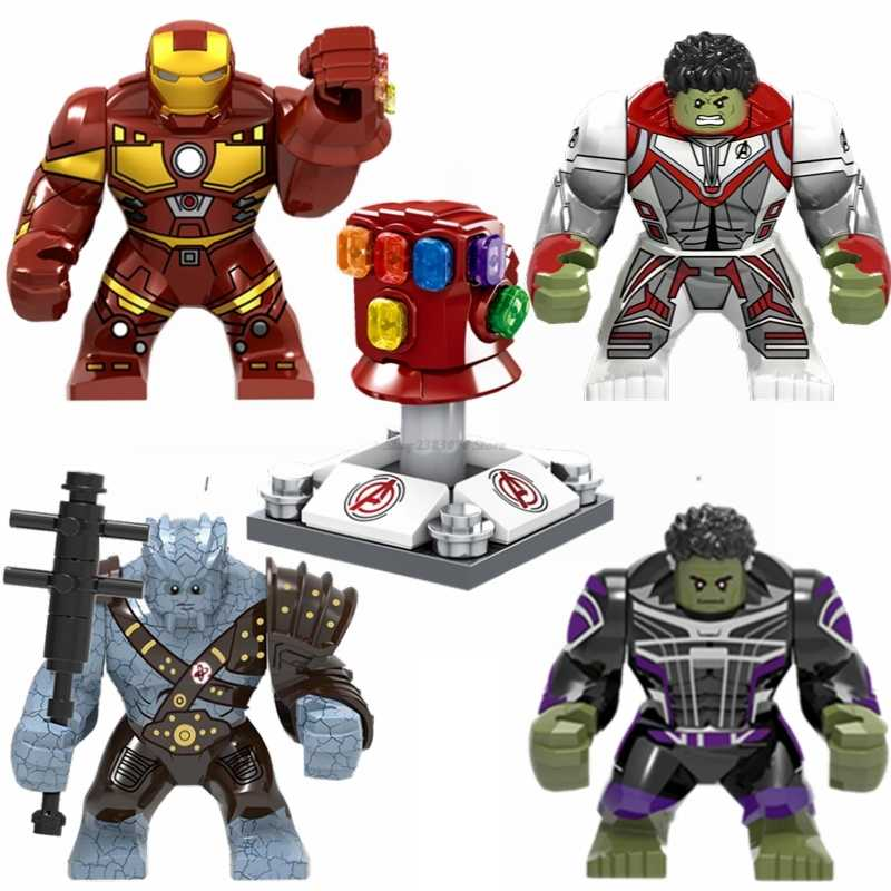 Legoing Marvel Super Heroes Hulk Thanos Iron Man Movie Big Size Building Blocks Toys Figures Avengers Legoings Bricks Kids Gifts
