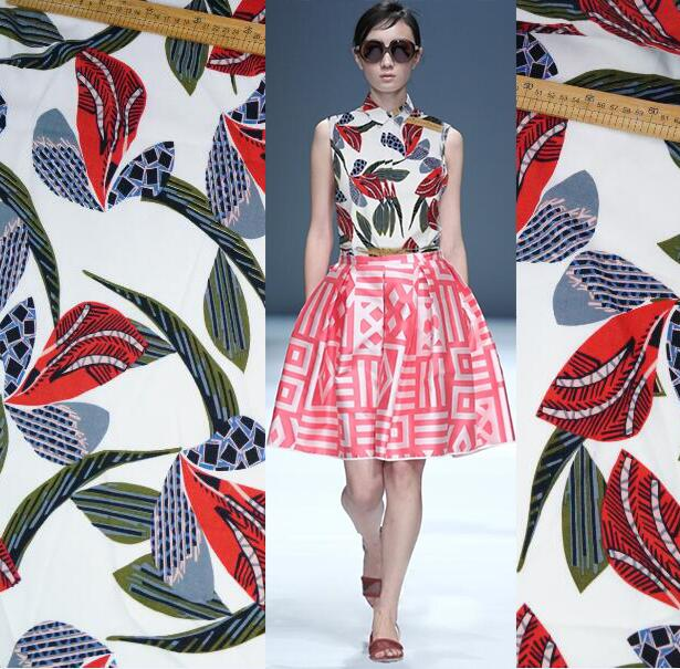 Leaves simple design D + Home Fabric international online fashion - Arts, Crafts and Sewing