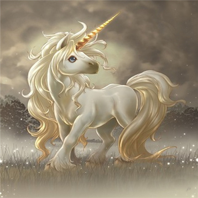 3d diy ofício da mão do diamante bordado branco unicorn cavalo bonito mosaico pintura nice decration casa dos desenhos animados diamante do ponto da cruz