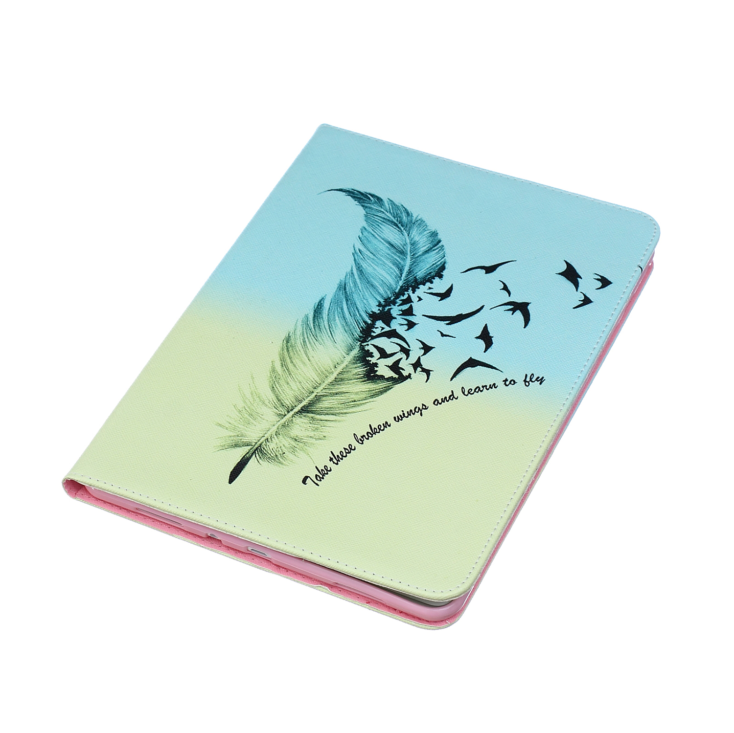 Fashion Stand PU Leather Case For Samsung Galaxy Tab A 9.7 Inch SM T550 T551 T555 Beautiful Painted Tablet Shell Cover