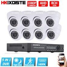 Sistema de Seguridad CCTV 8CH AHD 1080 P 8 UNIDS 2.0MP IR de Interior 1080N AHD 1080 P Video Vigilancia Cámaras de Seguridad de 8 canales DVR Kit