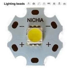 80PCS NICHIA Cree MKR MK-R LED 5060 Emitter 3W 3V Warm White Flashlight Torch Diode Chip Light 280LM on 20mm Copper PCB