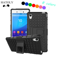 For Sony Xperia M4 Aqua Kickstand Case Heavy Duty Armor Shockproof Hybird Hard Rugged Rubber Case