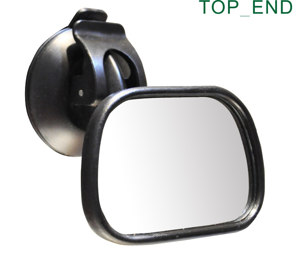 1pc,Free Shipping,New Car Safety Easy View Back Seat Suction Mirror,Baby Care Rear Ward Babycare,Adjustable,Shatter-Proof