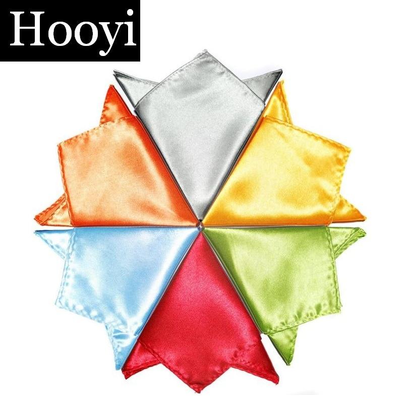 2019 jednobarevný kapesní čtvercový ručník