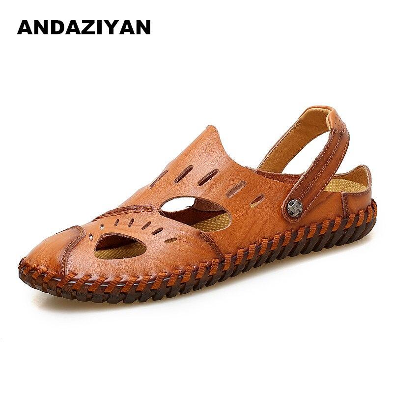 red Hommes Plat Chaussures Nouveau Sandales Brown Cuir Brown yellow À Décontracté Noir Résistant Avec En L'usure Sac De 6qdwYd1