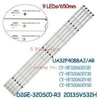 5 PCS*9LED LED backlight strip for samsung32 D2GE 320SC0 R3 2013SVS32H CY HF320AGEV3H UE32F5000 UA32F4088AR/J