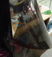 0 4MM Reflective Laser Transparent Film Black PVC Material Width 91CM