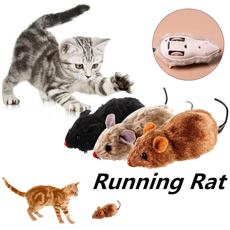 Pet Cat New Mouse Plush Toy Squeak Noise Sound Rat Fun Gift Lovely Color Random Gatos Jouet Chat Katten Speelgoed