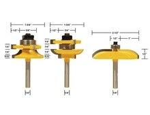 3 unids/set SHK: 1/4 de Alto grado de espiga puerta del armario fresa cuchillo de borde de la máquina de talla (For-20-25.4mm madera)