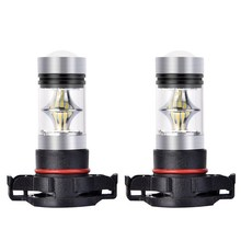 2Pcs H16 Car Fog Light Led Bulb PS24WFF 2504 5201 5202 9009 12085 Auto Light Bulbs Led 1800LM Vehicle Headlamp 6000K Light Bulb