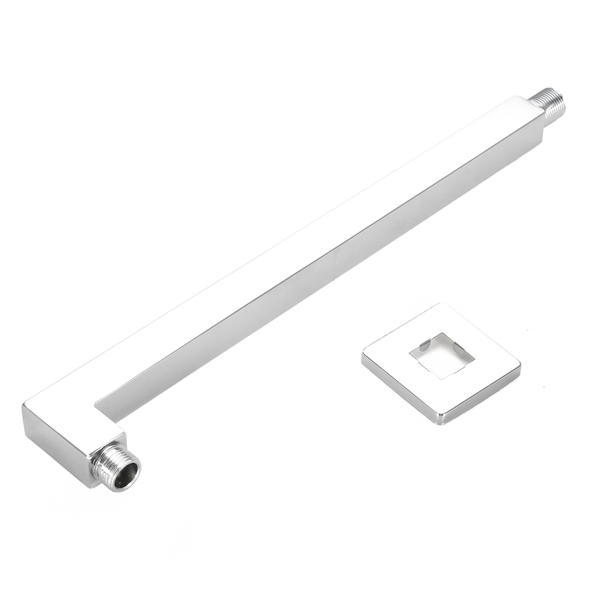 39.5cm Wall Mounted Square Copper Shower Extension Arm For Rainfall Shower Head Shower Arms Bathroom Tools Accessories