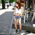 Hot!!! Retro low waist denim shorts female wild Sexy1PC Women Summer Fashion Vintage Denim Low Waist Jean Shorts Hot