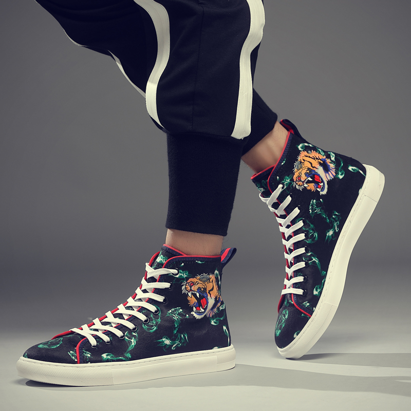 CYYTL Bengal Tiger Men 39 s Sneakers Outdoor Casual Shoes 5D Printing Lace up Breathable Walking Tenis Masculino Zapatillas Hombre in Men 39 s Casual Shoes from Shoes