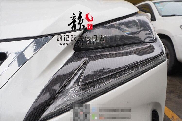 LX-MODE style Top qualité tout réel fibre de carbone voiture avant phares lèvres sourcils garnitures pour LEXUS NX 200/200 t/300 h