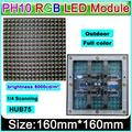 16*16 full color waterproof led board DIP 10mm pixel rgb led display module P10 160*160mm outdoor display cabinet