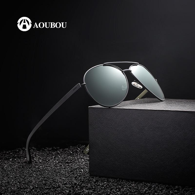 Reka Bentuk Jenama AOUBOU Hot Sale Polarzed Pilot Sunglasses Men - Aksesori pakaian - Foto 2