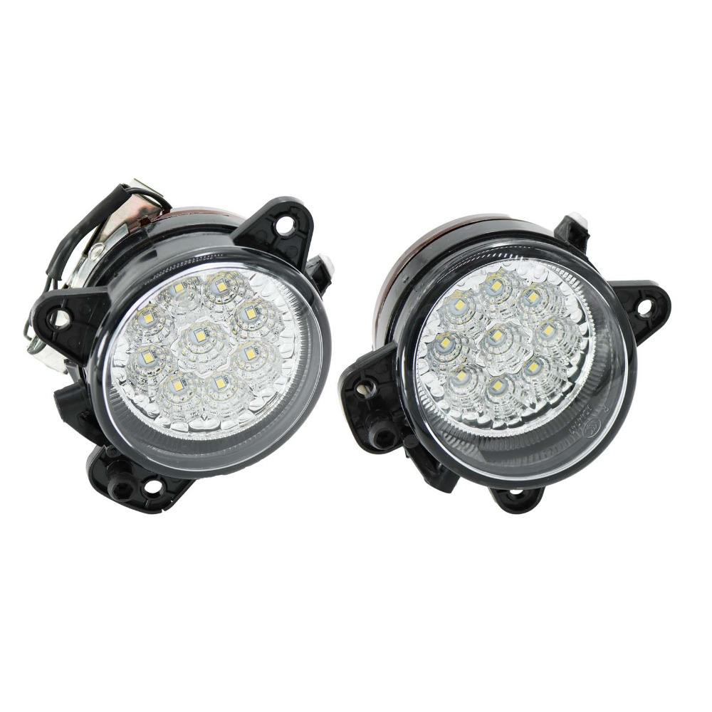 2Pcs Led Light For Skoda Fabia MK1 Facelift 2005 2006 2007 2008 Front Bumper LED Fog Lamp Fog Light for opel astra h gtc 2005 15 h11 wiring harness sockets wire connector switch 2 fog lights drl front bumper 5d lens led lamp